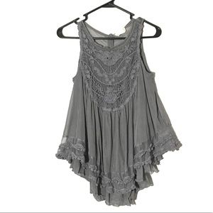 Altar'd State Sleeveless Embroidered Crochet Top S